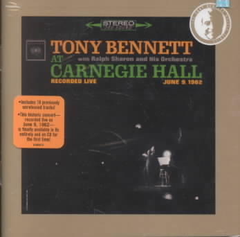 AT CARNEGIE HALL:COMPLETE CONCERT BY BENNETT,TONY (CD)